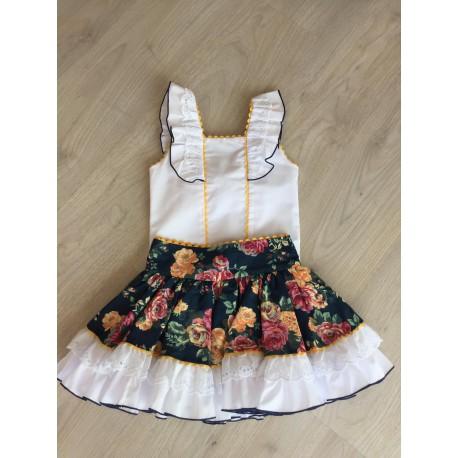Conjunto falda estampado