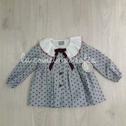 Vestido plumeti gris