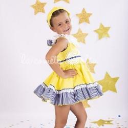 Vestido amarillo - azul