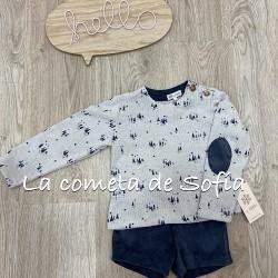 Conjunto abetos short niño by Copo